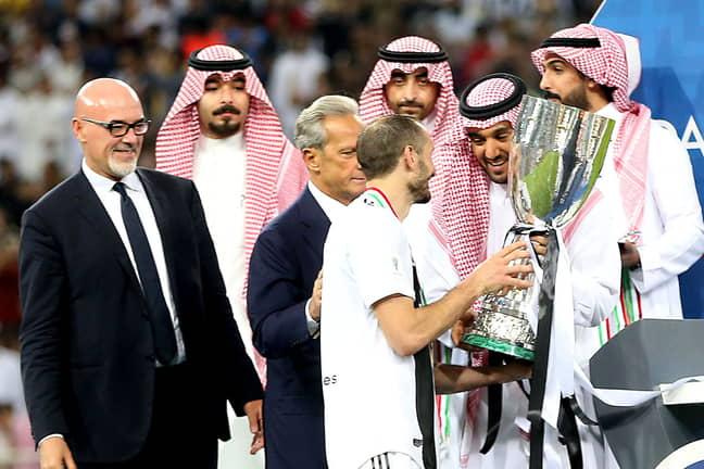 Juventus won the Italian Super Cup against AC Milan in January 2019 in Saudi Arabia. Image: PA Images