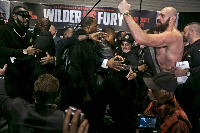 Deontay Wilder v Tyson Fury: Final News Conference Chaos. Credit: PA