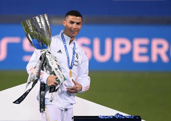 Ronaldo, here with the Supercoppa, has picked up another award. Image: PA Images