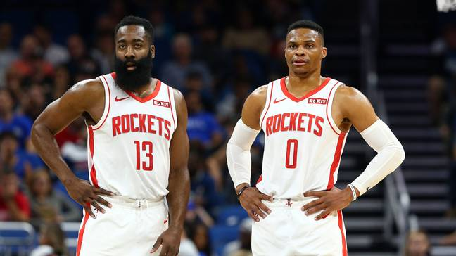 James Harden already has one foot out the door and Russell Westbrook only lasted one season in Houston. Credit: PA