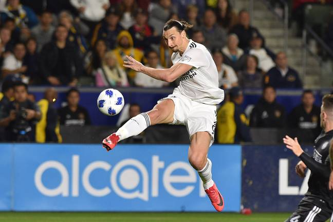 Ibrahimovic in action for LA Galaxy. Image: PA
