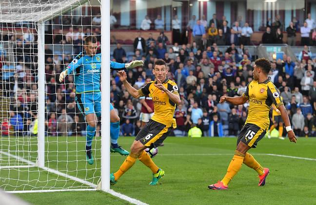 Koscielny scored a controversial winner with his hands. Image: PA Images