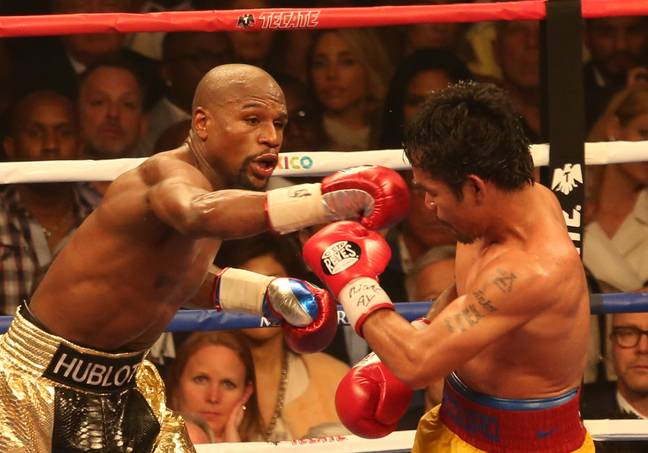 Floyd Mayweather beat Manny Pacquiao when they finally squared off in 2015