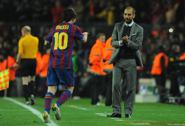 Messi and Guardiola had a good relationship at Barcelona. Image: PA Images