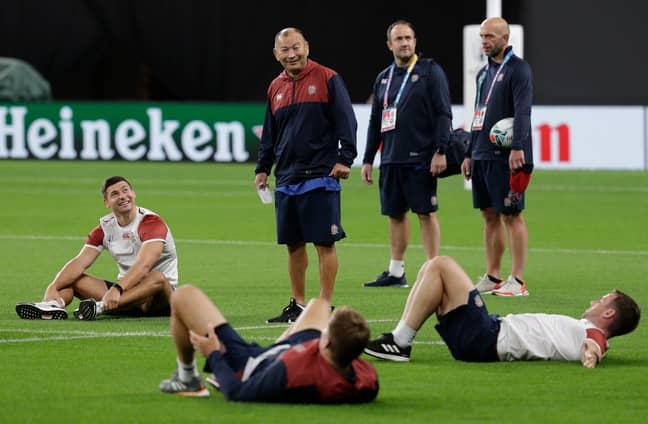 Jones prepares his players. Image: PA Images