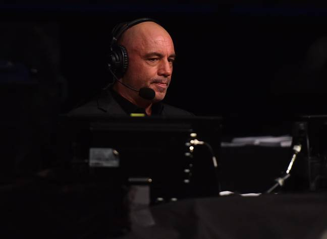 Rogan on commentary for UFC. Image: PA Images