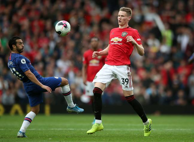 Scott McTominay in action for Manchester United against Chelsea on Sunday