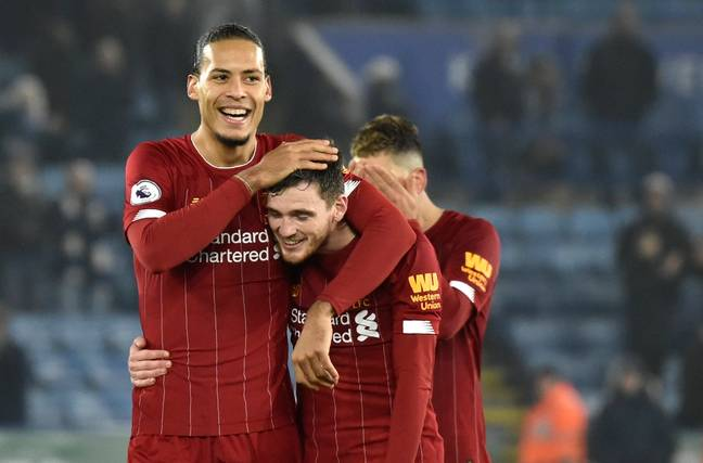 Virgil van Dijk and Andy Robertson rounded out the top five in the list