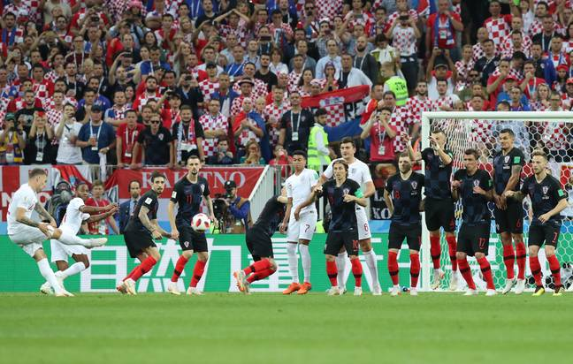Kieran Tripper fired England into an early lead against Croatia in the 2018 World Cup before losing in extra-time