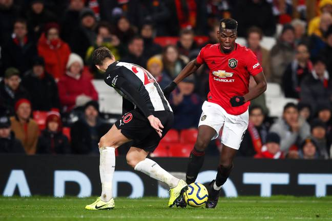Pogba played in the win against Newcastle United but it's one of only a few matches. Image: PA Images
