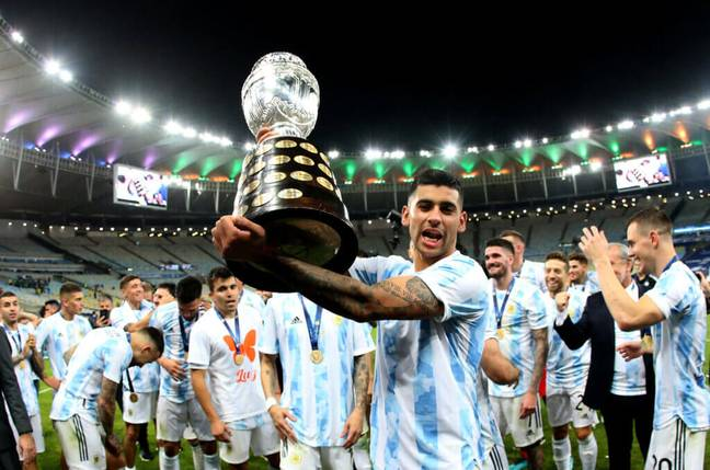 Cristian Romero recently won the Copa America with Argentina after beating Brazil in the final