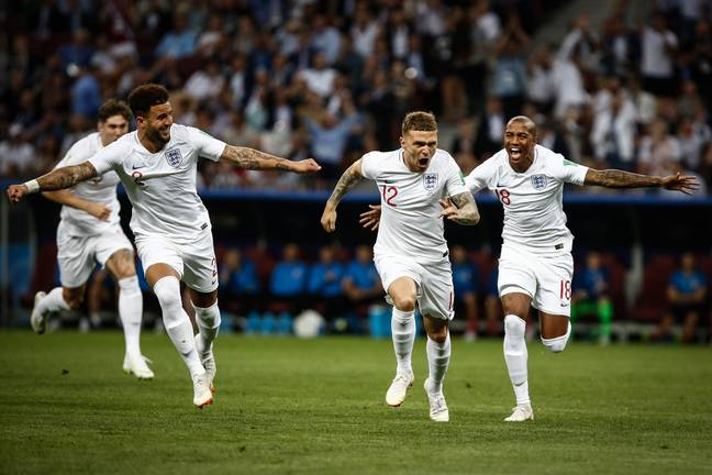 Trippier's free kick in 2018 sent the whole country into euphoria. Image: PA Images