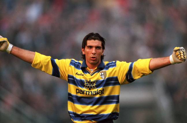 Buffon playing for Parma back in 1998 (Image Credit: PA)