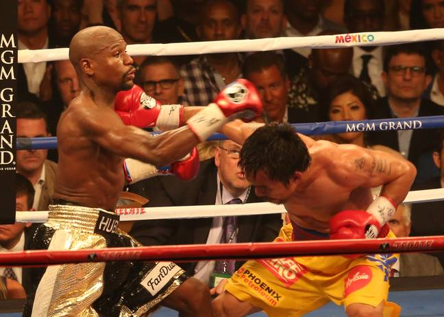 Mayweather and Pacquiao faced off back in 2015 with Mayweather coming out on top. (Image Credit: PA)