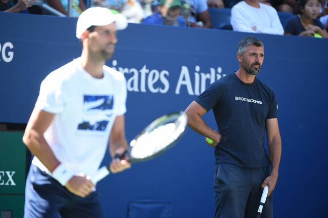 Novak Djokovic and his coach Goran Ivanisevic. Credit: PA
