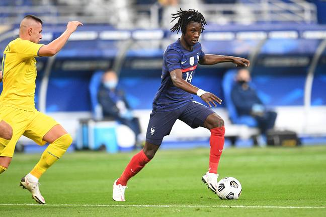 Camavinga already has three caps for France and has scored once. Image: PA Images