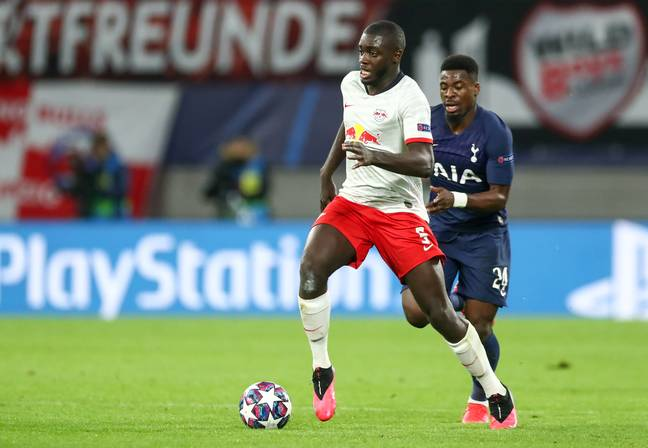 Upamecano impressed earlier in the Champions League against Spurs. Image: PA Images