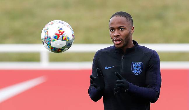 Raheem Sterling trains ahead of England's clash with Holland