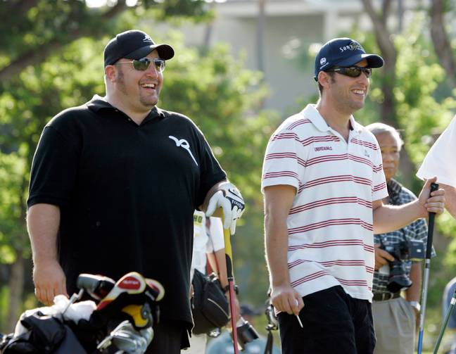 Happy Gilmore enjoys a round of golf with actor friend Kevin James