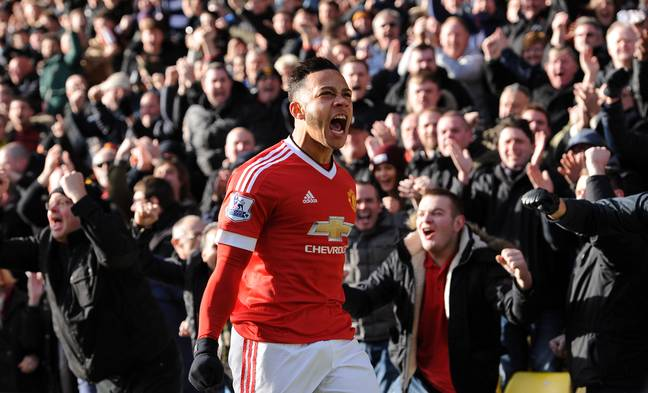 Depay had some success in England. Image: PA Images