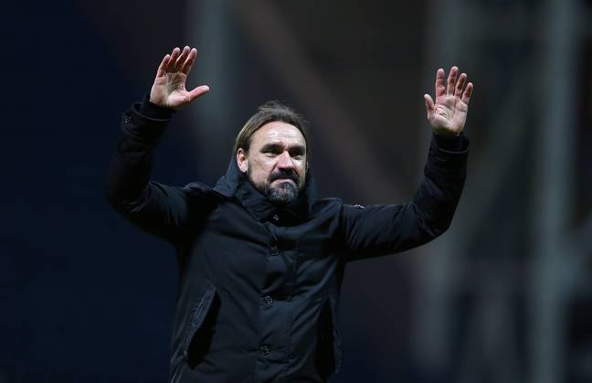 Daniel Farke did a great job getting his side promoted but staying up looks a near impossible task right now. Image: PA Images