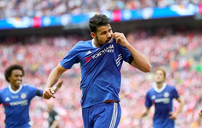 Costa in happier times at Stamford Bridge. Image: PA Images