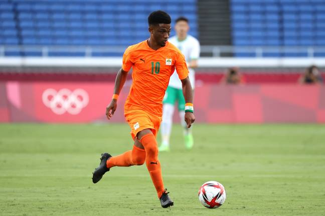 Amad Diallo laid on a lovely assist for Franck Kessie in Ivory Coast's Olympic opener against Saudi Arabia