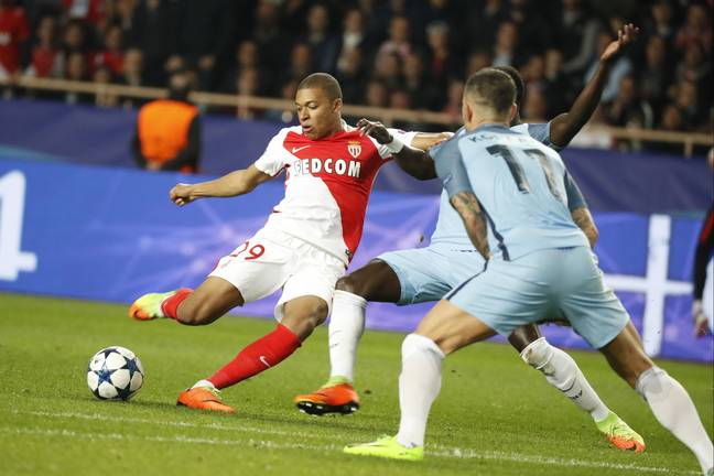 Mbappe burst onto the scene against Manchester City in 2017 and was expected to join Real then. Image: PA Images