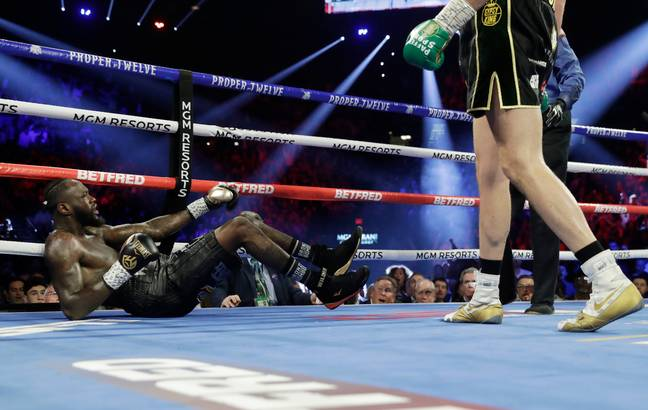Wilder was twice knocked down to the canvas. Image: PA Images