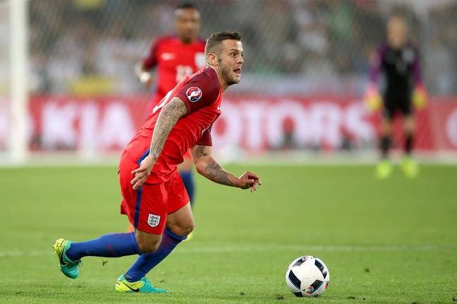 Wilshere in action for England. Image: PA