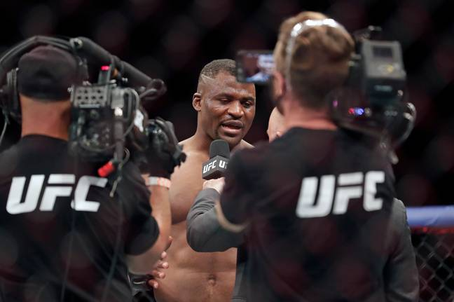 Ngannou destroyed Jairzinho Rozenstruik at UFC 249 last month. (Image Credit: PA)