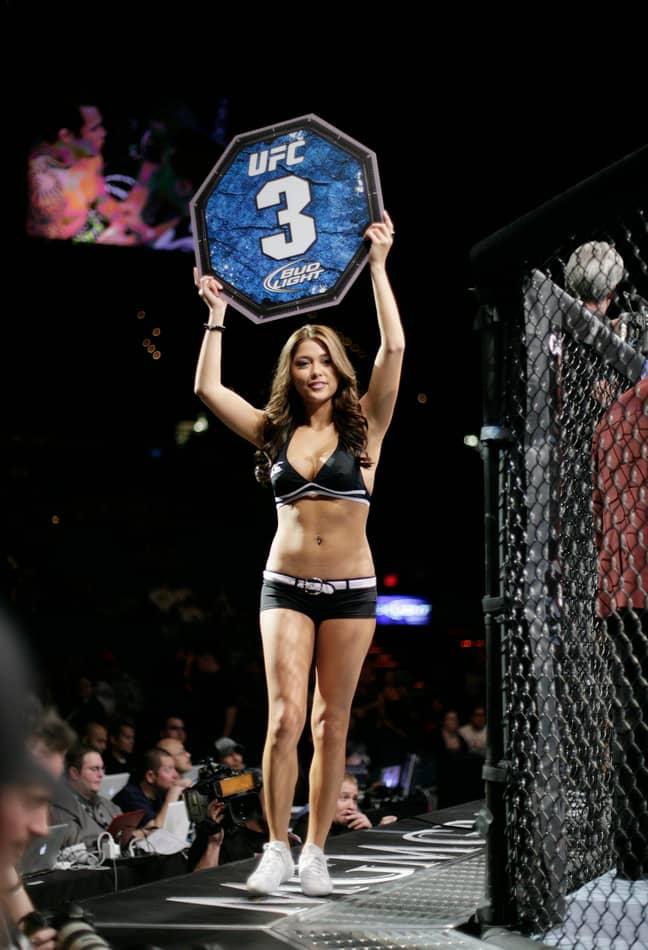 UFC octagon girl Arianny Celeste. Credit: PA