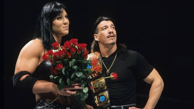With Eddie Guerrero, his mamacita. Image: WWE