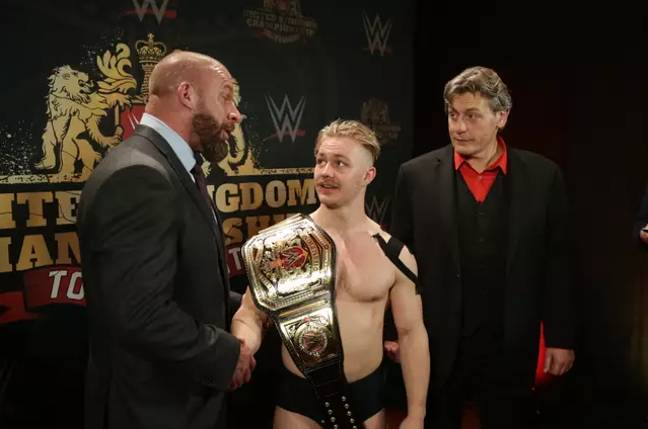 Tyler Bate was the first ever WWE United Kingdom Champion, aged 19. Image: WWE