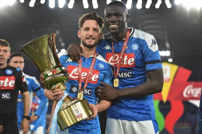 Koulibaly helped Napoli win the Coppa Italia. Image: PA Images