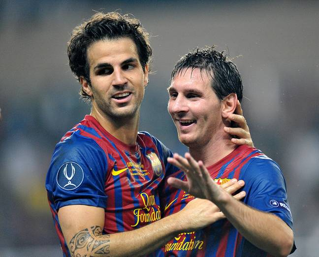 Fabregas left Barcelona for Arsenal but returned to play alongside his friend. Image: PA Images