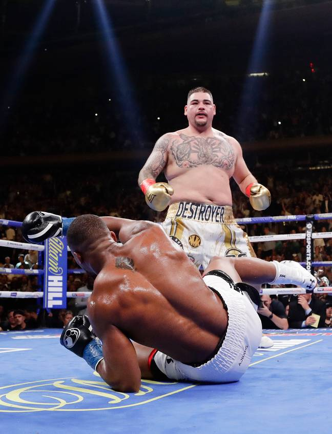 Andy Ruiz Jr. beat Anthony Joshua's score on a punching machine prior to his heavyweight championship triumph. Credit: PA