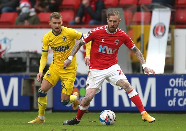 Maddison playing for Charlton earlier this season. Image: PA Images