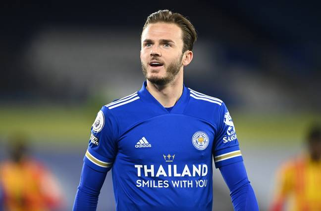 Maddison could be on his way to the Emirates. Image: PA Images