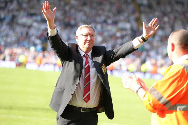 Fergie waves goodbye after his final game in charge. Image: PA Images