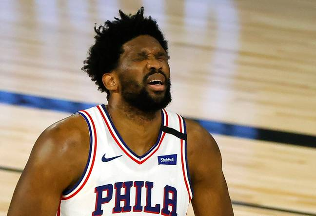 Joel Embiid of the Sixers. Credit: PA