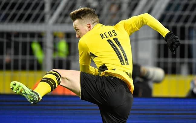 Reus celebrates scoring a goal. Image: PA