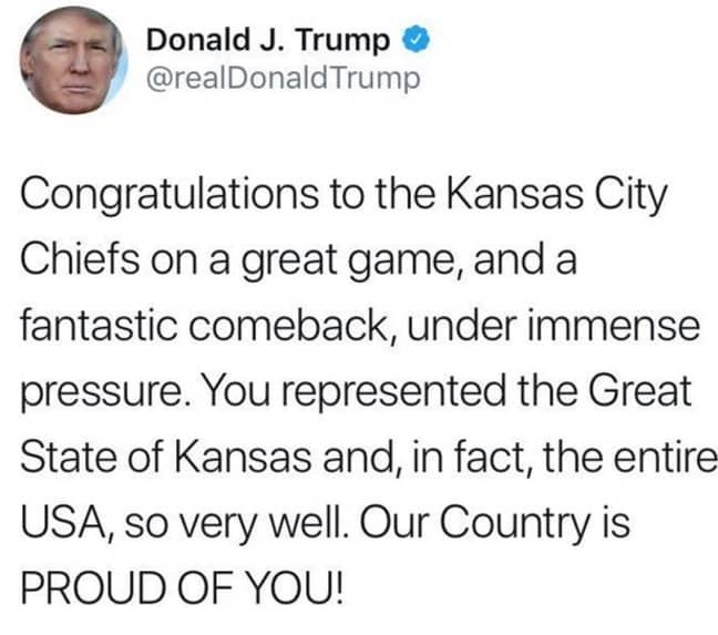 Credit: Donald Trump/Twitter