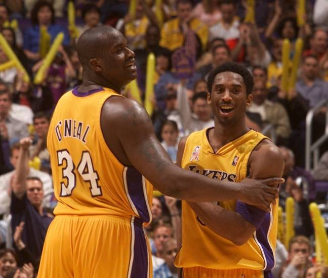 Shaq and Kobe Bryant pictured during their time together in Los Angeles.