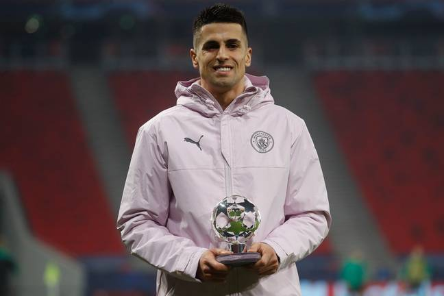 Cancelo won the man of the match award in the Champions League recently. Image: PA Images