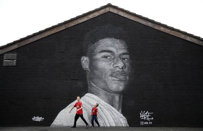 Mural of Marcus Rashford in Withington, Manchester. Image: PA Images