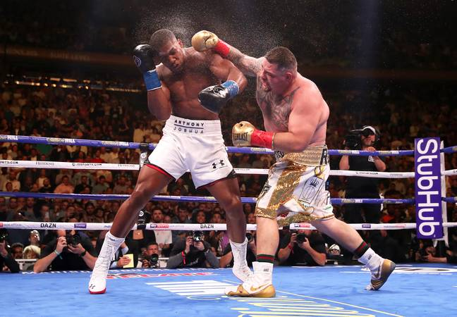 Ruiz hit Joshua in the first fight. Image: PA Images