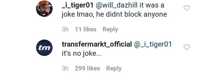 Clearly it was no joke. Image: Twitter/Instagram