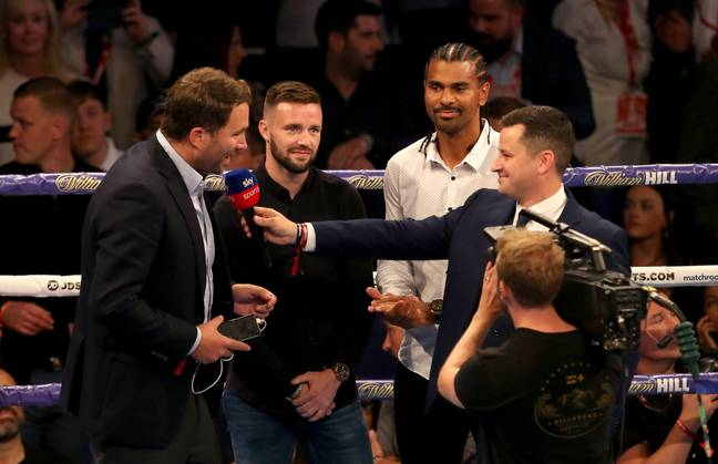 Eddie Hearn announces his October 26th card at the O2 Arena. Image: PA Images