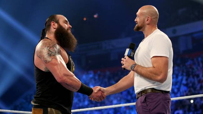 Former enemies become friends. Image: WWE.com